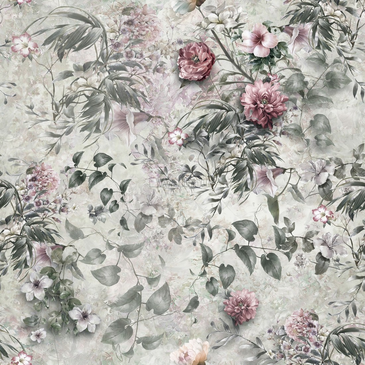 Vintage Floral Wallpaper Mural Wallmur