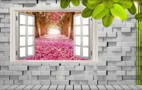 Cherry Blossom with Brick Wall Wallpaper Mural