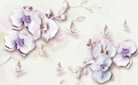 Purple Orchid Floral Wallpaper Mural