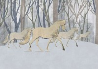 Abstract Horse and Forest Wallpaper Mural