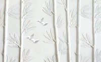 White Forest with Bamboo Tree Wallpaper Mural