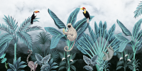 Tropical Forest with Koala Toucan Wallpaper Mural