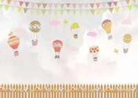 For Kids Little Hot Air Balloons Wallpaper Mural