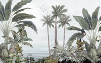 Exotic Forest on Seaside Wallpaper Mural