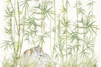 Bamboo Trees with Leopard Wallpaper Murals