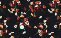 Chinese Red Floral Wallpaper Mural