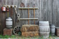 Village Style Wooden Fence