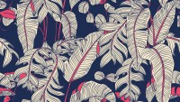 Dark Palm Leaf Wallpaper Mural