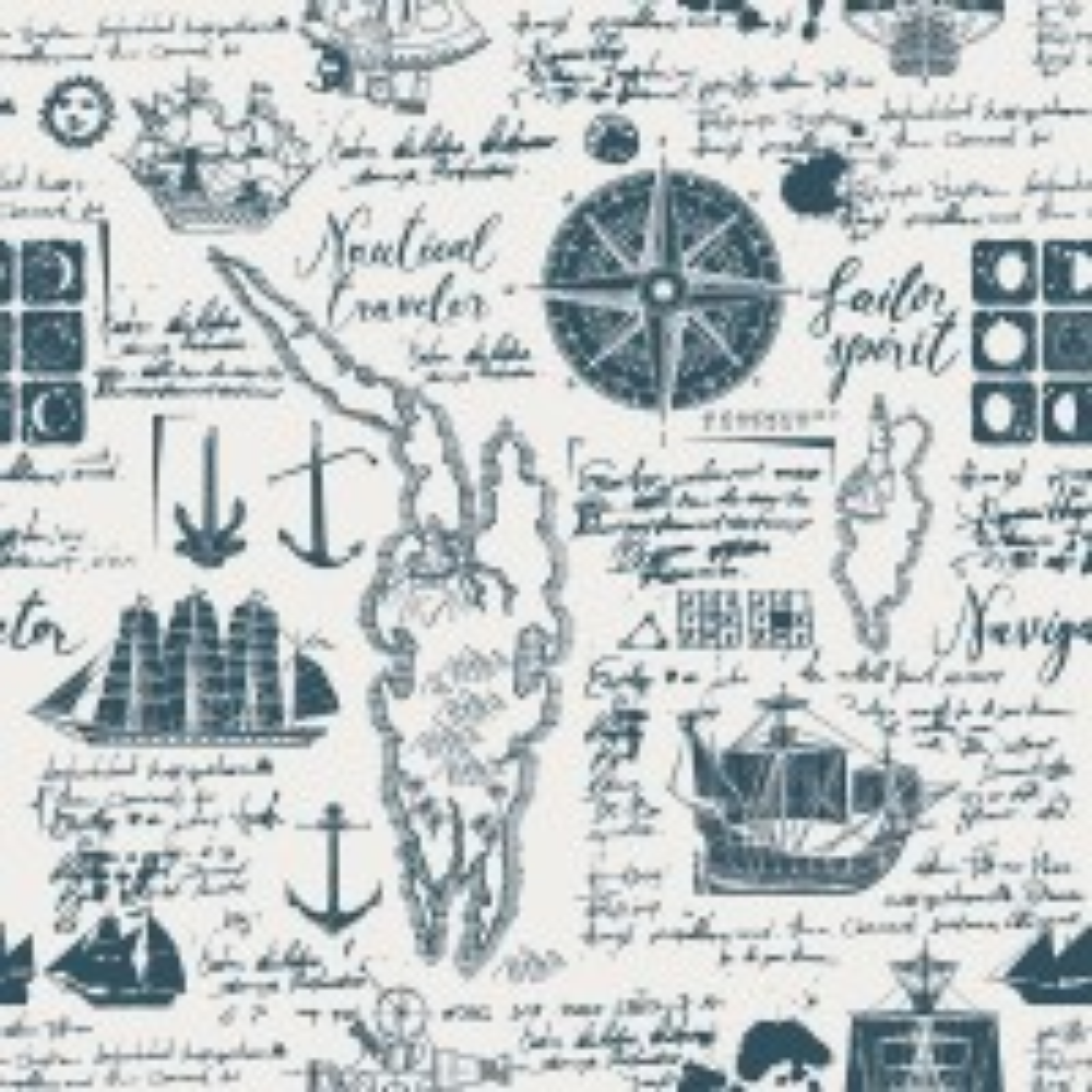 Inked Traveler Map Wallpaper Mural for Children