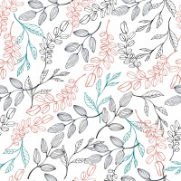 Leaves and Branches Wallpaper Mural