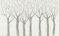 Abstract Forest Drawing Wallpaper Mural