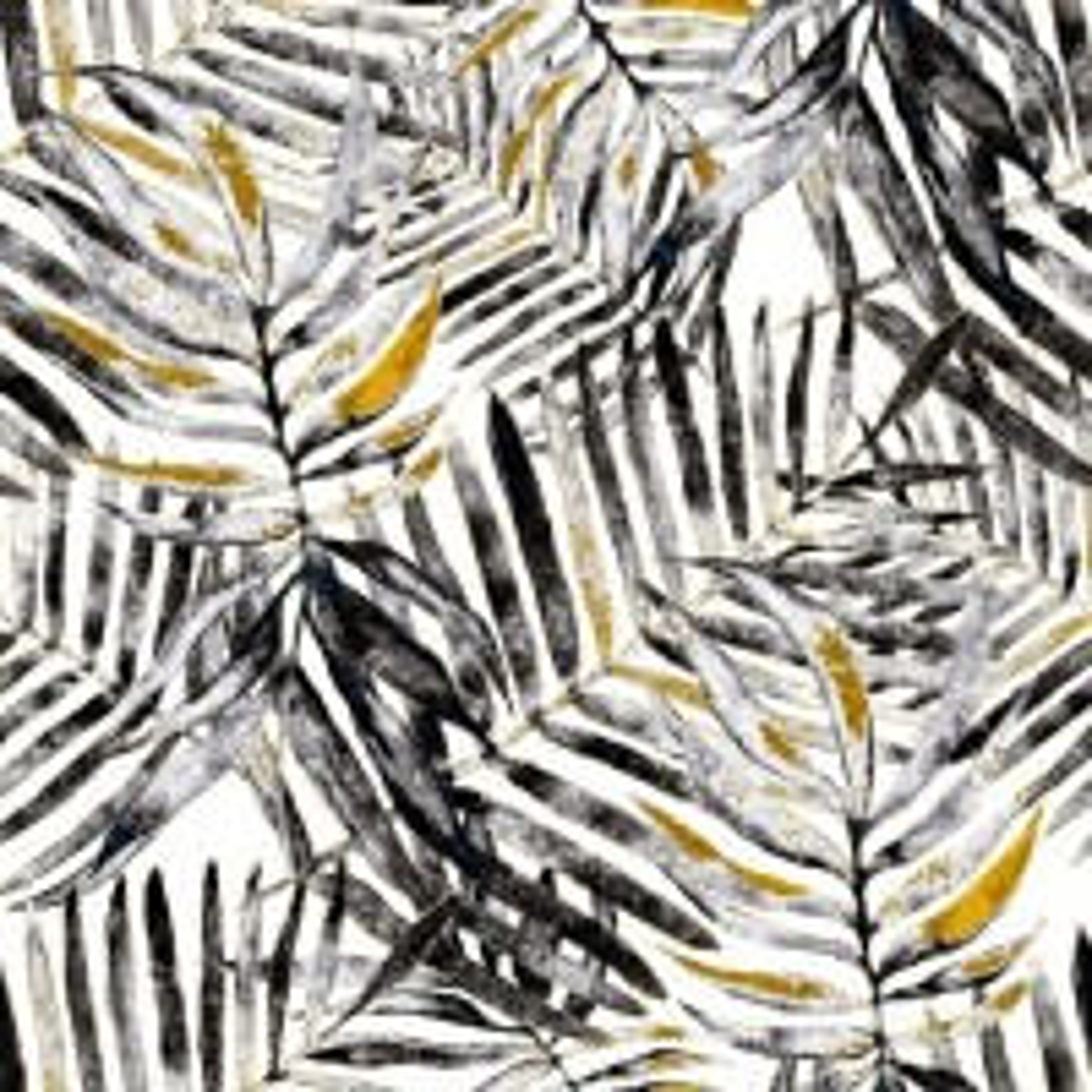 Watercolor Palm Leaf Pattern Wallpaper Mural
