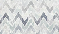 Zigzag Pattern with Dot Work Wallpaper Mural