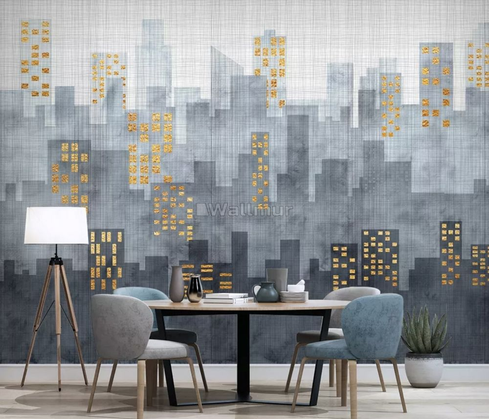 Architecture Modern Simple City Wallpaper Mural