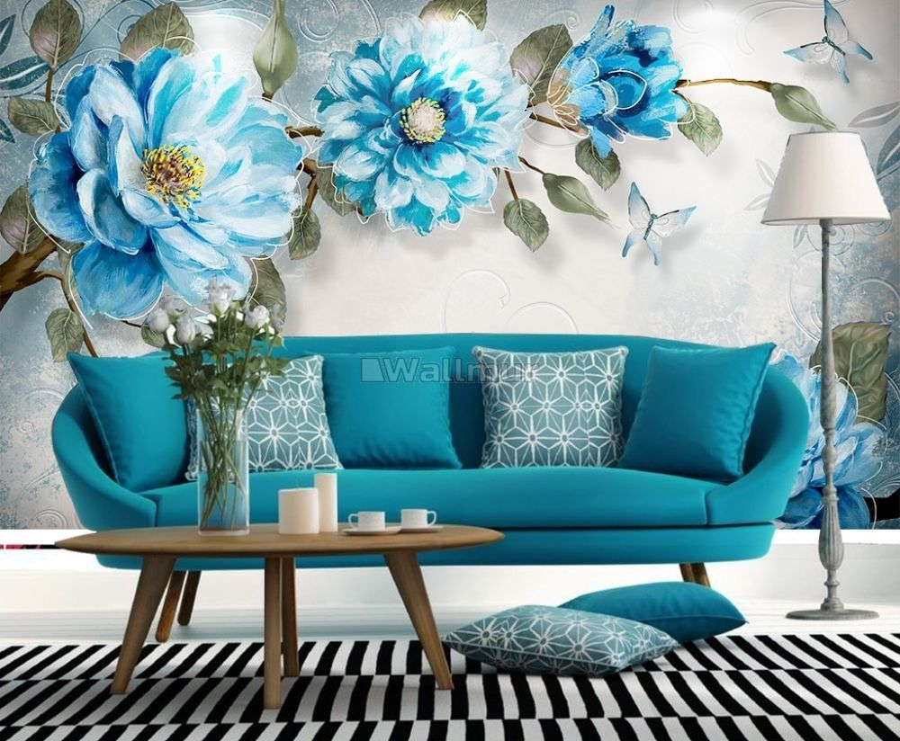 Watercolor Bohemian Floral Wallpaper Mural Wallmur
