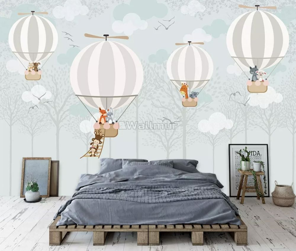 Hot Air Balloons With Animals Wallpaper