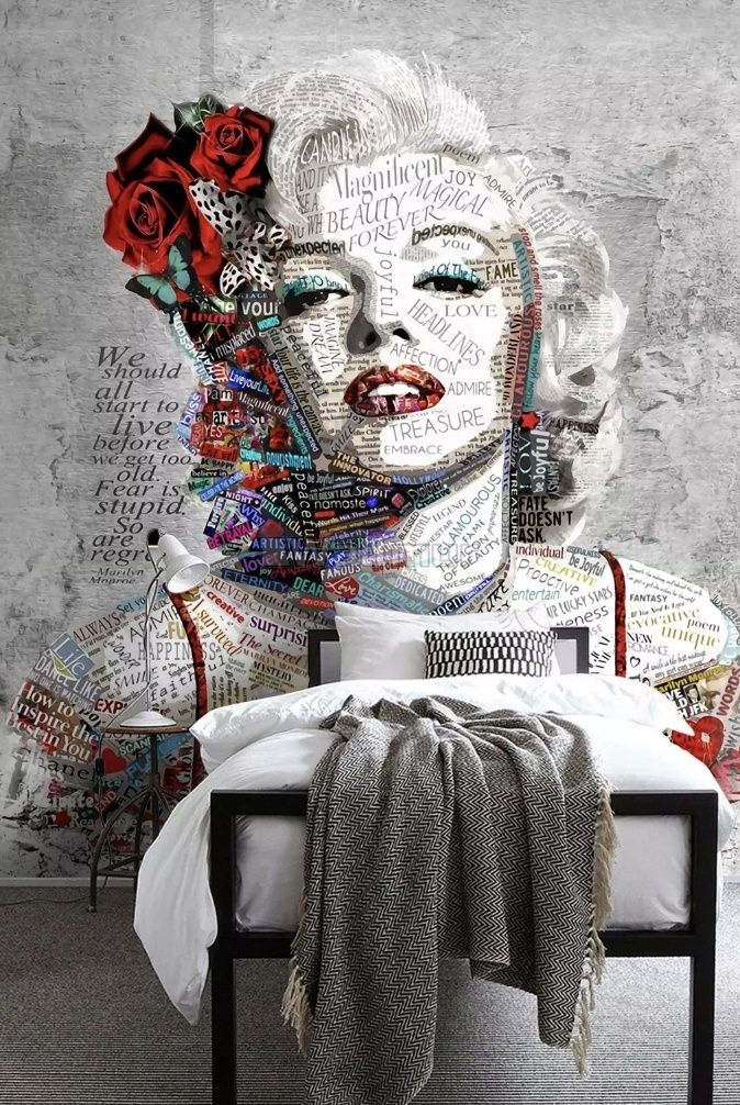 Marilyn Monroe with Typography