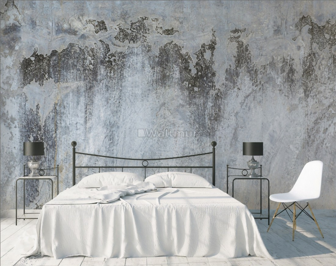 Gray Brown Grunge Cement Style Wallpaper Mural