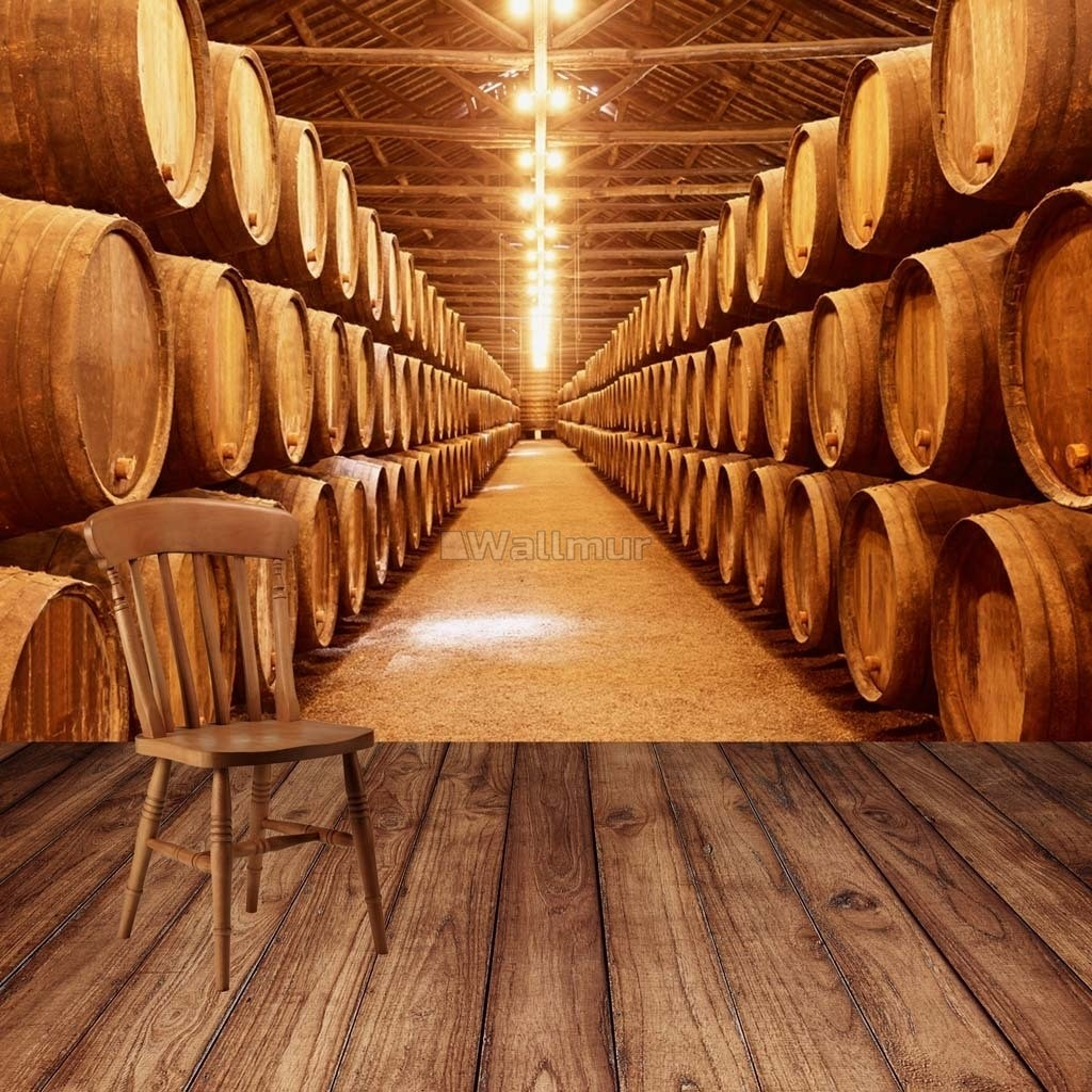 Beer Keg Wine Barrel Wallpaper Mural