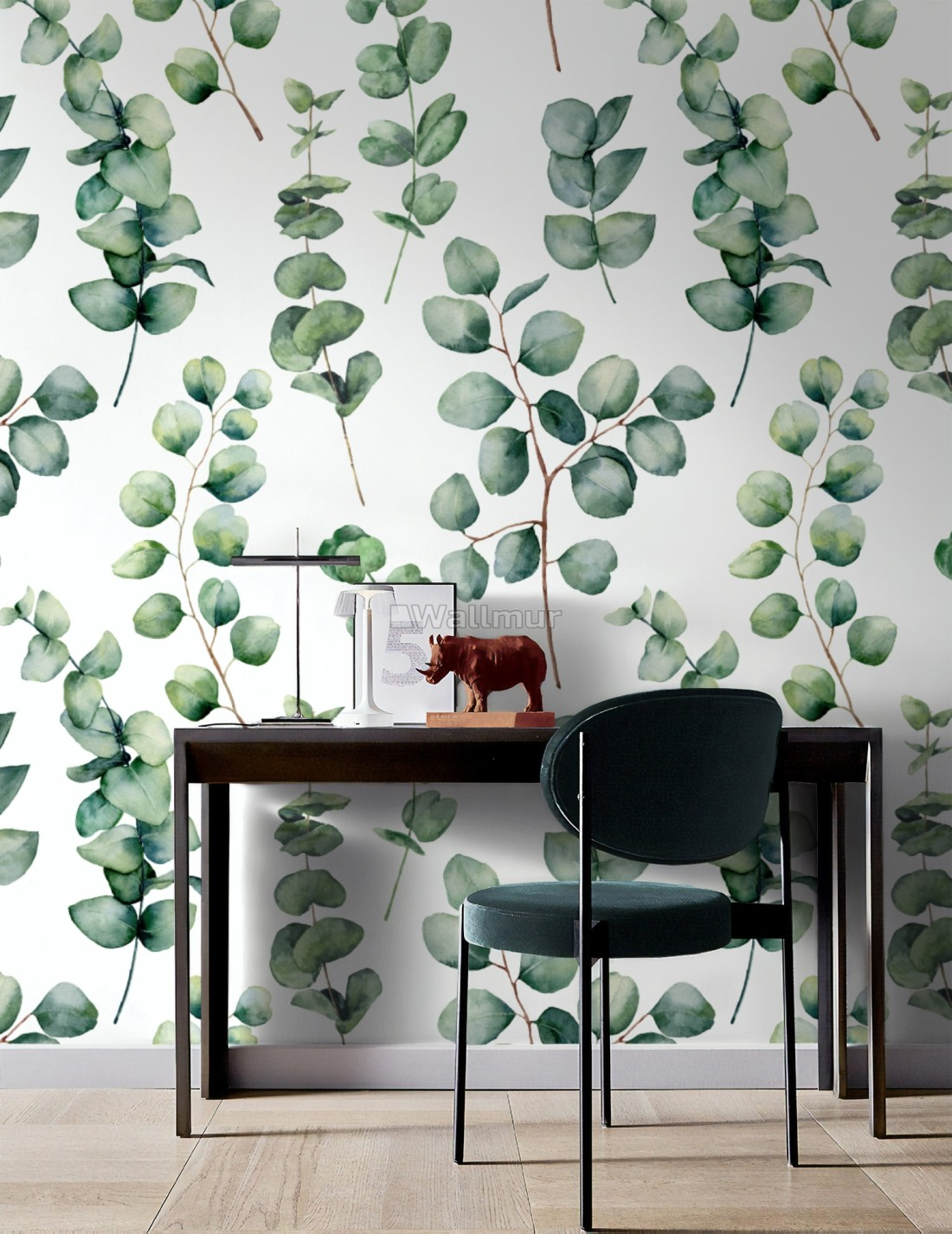 watercolor eucalyptus leaf wallpaper mural wp 7760570411ss 31482246