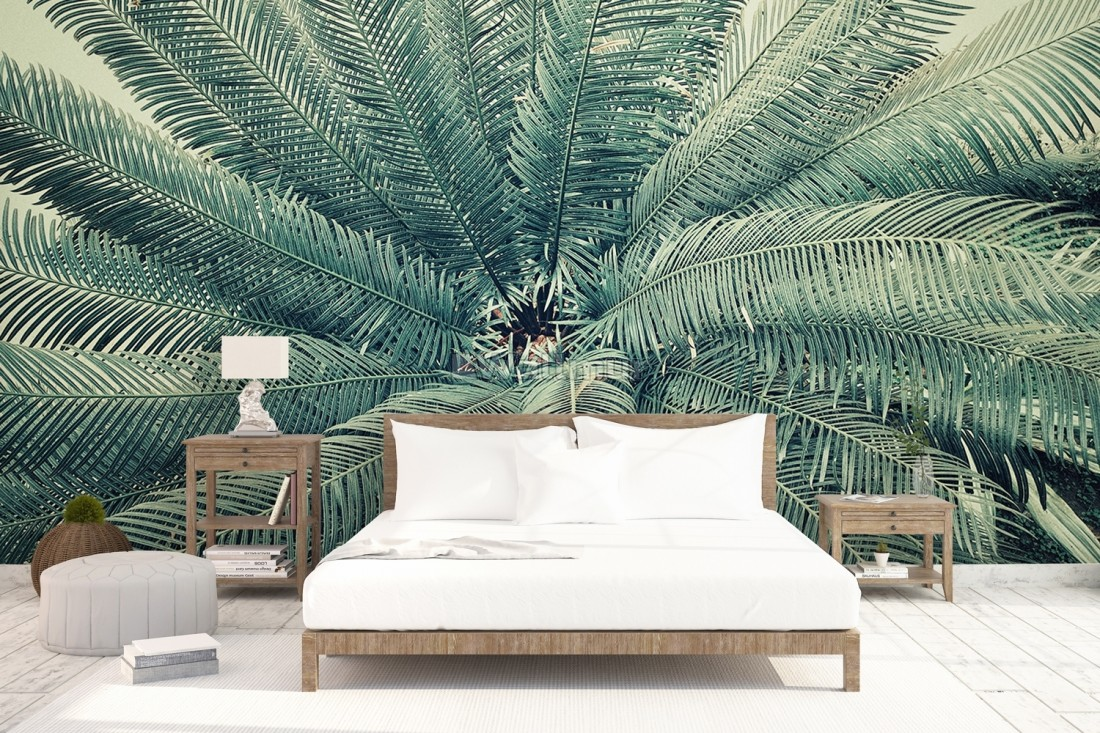 Vintage Palm Leaf Wallpaper Mural