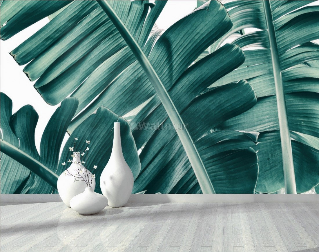 Tropical Green Palm Leaves Wallpaper Mural Wallmur Find over 100+ of the best free tropical leaves images. tropical green palm leaves wallpaper mural