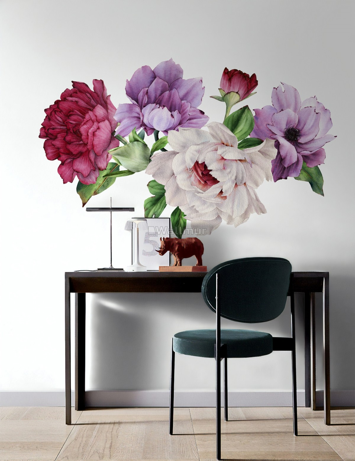 Peony Floral Colorful Bouquet Wall Decal Sticker