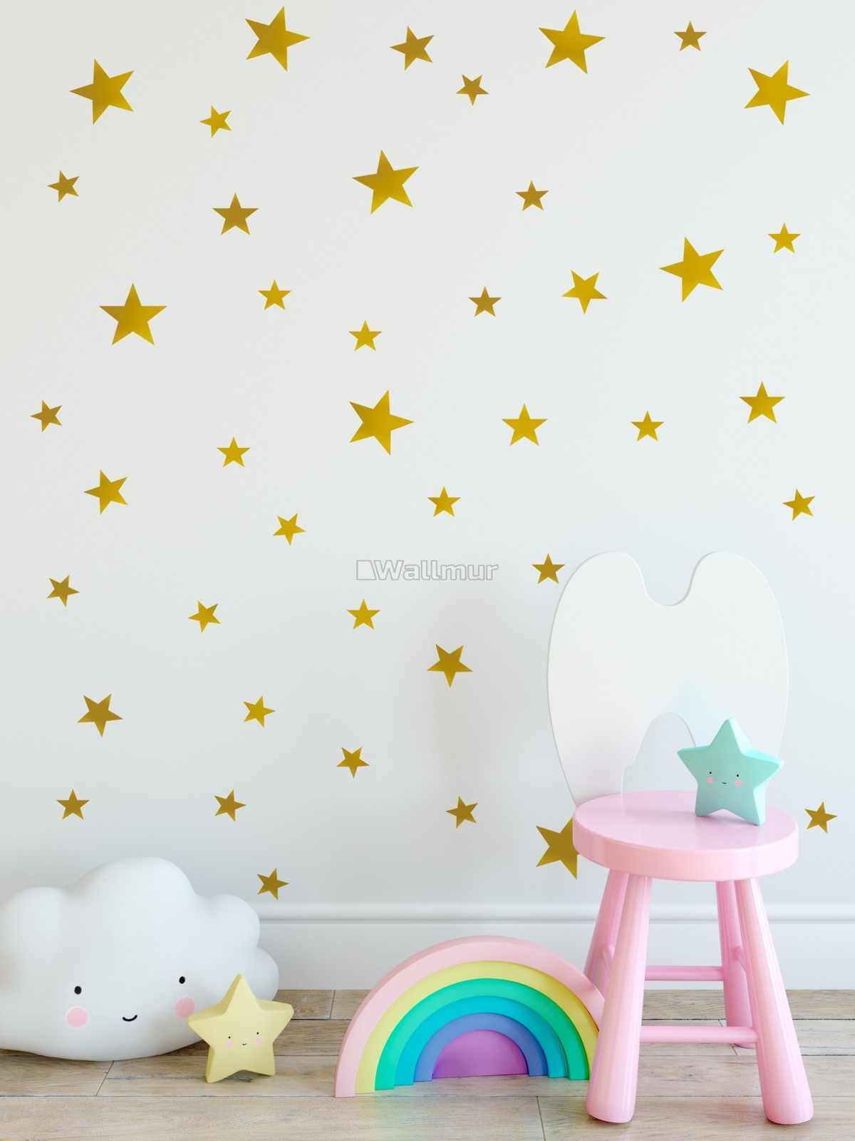 Metallic Gold Little Stars Wall Decal Sticker