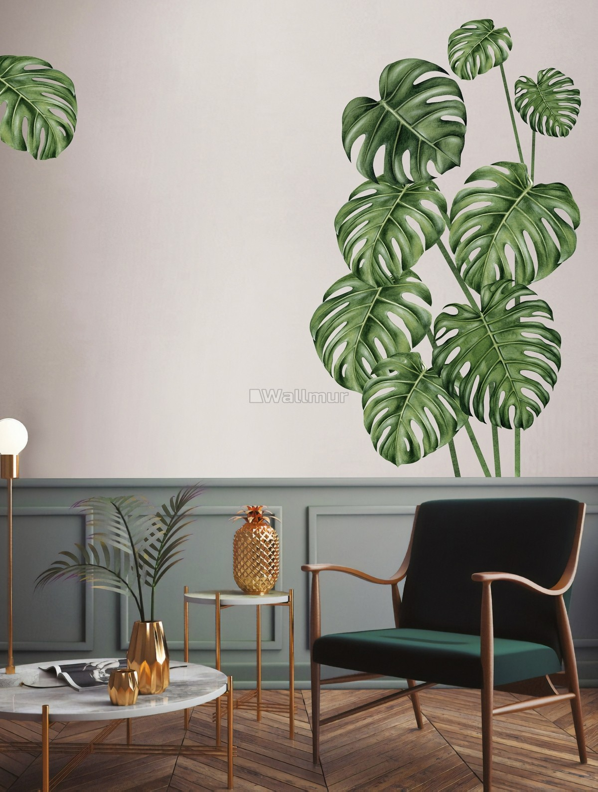Watercolor Leafs Wall Decal Sticker