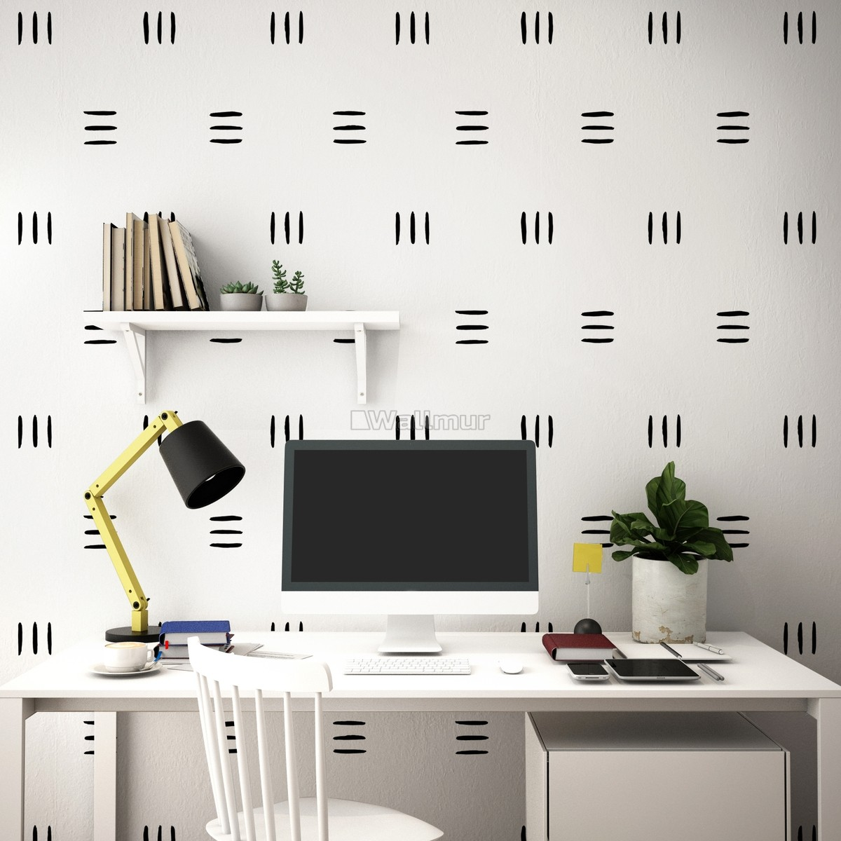 Geometric Black Line Wall Decal Sticker