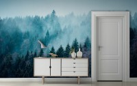 Misty Forest View Wallpaper Mural