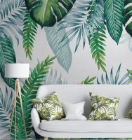 Tropical Palm Leaf Wallpaper Mural