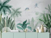 Green Tropical Forest Wallpaper Mural