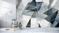 Modern Geometric Triangle Art Wallpaper Mural
