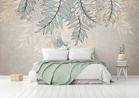 Hanging Soft Leaf Draw Wallpaper Mural