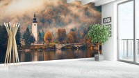 Sunset in Nature Wallpaper Mural