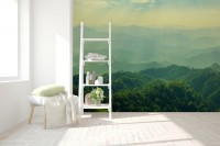Green Mountain Silhouette Wallpaper Mural