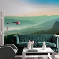Misty Mountain View Wallpaper Mural