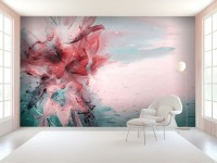 Abstract Lily Wallpaper Mural