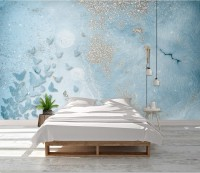 Abstract and Blue Butterfly Wallpaper Mural
