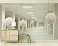 Abstract Corridor and Nordic Ball Wallpaper Mural