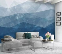 Abstract Geometric Shapes Wallpaper Mural