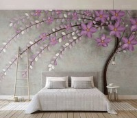 Pink Abstract Blossom Wallpaper Mural