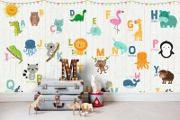 Animals Alphabet Wallpaper Mural