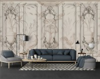 3D Embossed Style Cement Wall Wallpaper Mural