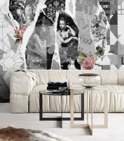American Style Black and White Old Newspaper Wallpaper Mural