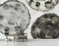Watercolor Abstract Round Art Wallpaper Mural