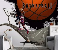 Basketball Hoop Wallpaper Mural