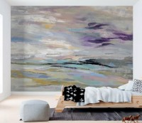 Abstract Colorful Brush Wallpaper Mural