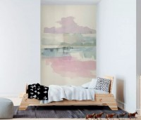 Abstract Soft Brush Wallpaper Mural